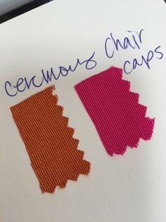 Ceremony chair pads