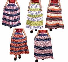 6d97691edccb4 10Pcs Hippie Boho Gypsy Batik Print Cotton Designer Skirt Dress Wholesale  Lot #Handmade #Full