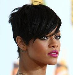 Rihanna Short Pixie Crop Hairstyle
