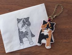 Goma the Cat Bag Charms by FGMstore on Etsy