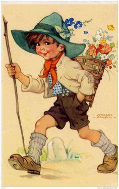 *TOPRAK ve AHŞAP*: dekupaj resimleri- vintage çocuk resimleri
