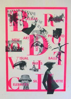 Silk Screen Prints 1 & 2 ) I imitated Japanese artist Yayoi Kusama. シルクスクリーン作品。草間弥生に扮してみました。  3 & 4 ) Poster themed Alexey Brodovitch who was art director of Harper's BAZAAR. ハーパースバザーのアートディレクターとして一時代を築いたアレクセイブロードヴィッチをテーマにしたポスター。