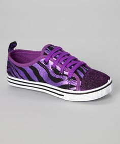 Look at this Chatties Purple Zebra Sneaker on #zulily today!