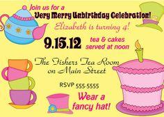 Digital Topsy Turvy Mad Hatter Tea Party by spencervillejunction, $8.00