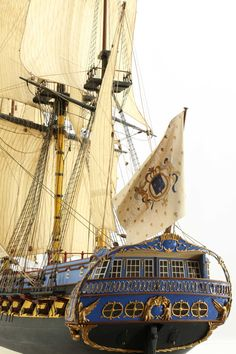 An 18th century French 40 gun frigate built to the drawings of Amiral Paris and Frederik Chapman