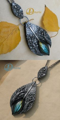 """Avalon by drakonaria (made with """"silver clay"""")"""