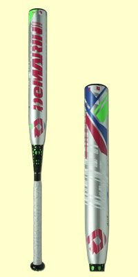 The 2015 DeMarini CF7 Fastpitch bat has a -11 length to weight ratio and is approved for play in ASA, USSSA, NSA, ISA and IST leagues. It is a two-piece composite design with a D-Fusion handle to eliminate vibration and Paradox Composite barrel for a bigger, hotter sweet spot. It comes with a 12-month manufacturer's warranty.