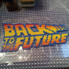 Back to the Future perler beads  by boomboom_vw20th