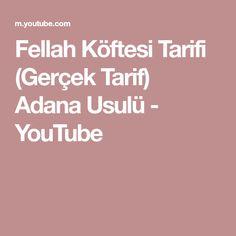 Fellah Köftesi Tarifi (Gerçek Tarif) Adana Usulü - YouTube Youtube, Bulgur, Youtubers, Youtube Movies