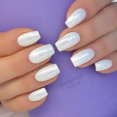Pearly White Nail Design