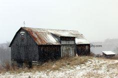 1958 Barn snow