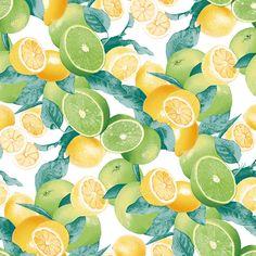 Estampa Verão 2015 Fresh Lemon and Lime Pattern