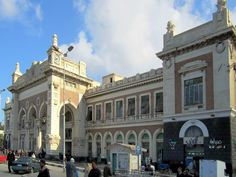 A relic of British colonial times, Misr Station in Alexandria, Egypt, receives over a dozen trains a day from Cairo.