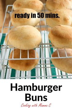 Make these Quick Hamburger Buns from scratch and elevate your burgers to a whole new level! No fancy equipment required. Artisan Bread Recipes, Healthy Bread Recipes, Muffin Recipes, Delicious Recipes, Baking Recipes, Hamburger Bun Recipe, Hamburger Buns, Dessert Recipes, Baking