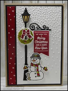 Just loving the new Stampin' Blends.  Had a play with them colouring the images from the Seasonal Chums stamp set.  I made two Christmas ca...