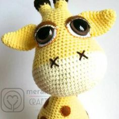 Flick the Giraffe amigurumi crochet pattern by Meraki Craft Inc.