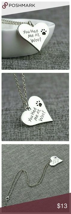 """🎈LAST ONE 🎈Heart Pet Pendant Necklace NWT Zinc Alloy. Pendant aprox size : 0.86"""" x 1.18"""". Chain aprox Length: 17.7"""" plus extention 1.9"""". Nickel and lead compliant. Jewelry Necklaces"""