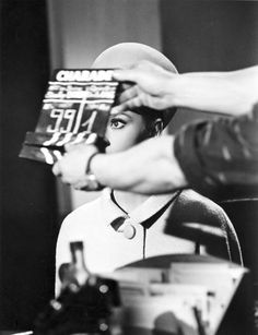Audrey Hepburn on the set of Charade