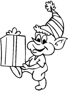 Cute Christmas Elves Coloring Pages - Christmas Coloring Pages : KidsDrawing – Free Coloring Pages Online Free Adult Coloring Pages, Coloring Pages To Print, Coloring Book Pages, Printable Coloring Pages, Coloring Pages For Kids, Kids Coloring, Simple Christmas Cards, Christmas Elf, Christmas Colors