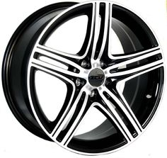 19 ZCW ZM1 GLOSS BLACK POLISHED FACE alloy wheels for 5 studs wheel fitment in 8.5x19 rim size