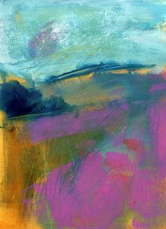 The Old Cells Studio - Michèle Brown Art: Two abstract Landscapey things - Acrylics on paper