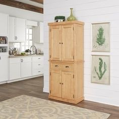 Nantucket Natural Pantry by Home Styles   Overstock.com Shopping - The Best Deals on Cabinets