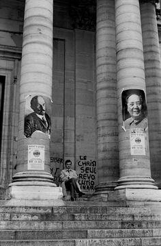 Magnum Photos - Henri Cartier-Bresson - FRANCE. Paris. 5th arrondissement. The Sorbonne University under student occupation. May 1968.