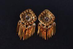 22k Old Mine Cut Pendant Earrings Chinese Indian Traditional Earrings, Antique Jade, Pendant Earrings, Round Cut Diamond, Diamond Pendant, Jewelry Stores, Earring Set, Chinese Takeaway, Fine Jewelry