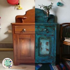 The Turquoise Iris Vintage Modern Hand Painted Furniture Furniture Makeover DIY Furniture hand Iris Modern Painted turquoise Vintage Chalk Paint Furniture, Hand Painted Furniture, Distressed Furniture, Refurbished Furniture, Repurposed Furniture, Furniture Projects, Furniture Makeover, Vintage Furniture, Cabinet Furniture