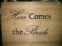 One side of the sign that Ethan will carry down the aisle.