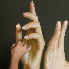 Beautiful hyper-realistic painting by Omar Ortiz