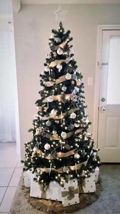 Neutral Rustic Glam Christmas Tree