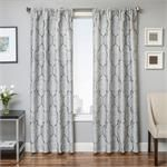 Tryst Curtain Panel in a Quatrefoil Design available in 6 colors -great tile pattern for living room draperies