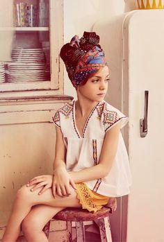 fête de l'ananas = le turban antillais de Capucine