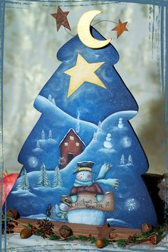 Items similar to Paese dipinto E-Pattern Packet. CHRISTMAS TREE FARM. Disegno di Terrye French.Painted da me. on Etsy