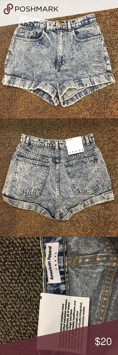 American Apparel American Apparel denim shorts American Apparel Shorts Jean Shorts