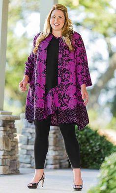 Floret Batik Shirt Jacket and Floret Batik Tank Tunic / MiB Plus Size Fashion for Women / Spring Fashion http://www.makingitbig.com/product/5117 http://www.makingitbig.com/product/5118