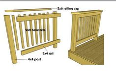 How to Build a deck railing                                                                                                                                                     More