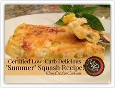 Looking for something yummy to add to your mini-challenge menu?  Have any summer type squash on hand?  This recipe is easy peasy, makes a lot, reheats wonderfully and tasted DELICIOUS!  Give it a thumbs up and share it with all your friends!  Shhhh!!! You don't have to tell them it's low carb! They'll never know!