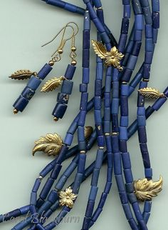 Faux Lapis Lazuli, a la Carol Blackburn African Trade Beads, Faux Stone, London Photos, Ceramic Jewelry, Polymer Clay Beads, Clay Projects, Clay Art, Lapis Lazuli, Diy Jewelry
