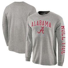 Alabama Crimson Tide Distressed Arch Over Logo Long Sleeve Hit T-Shirt - White