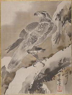 Kawanabe Kyōsai | Eagle Holding Small Bird