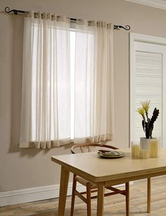 Mysky Home Back Tab and Rod Pocket Window Crushed Sheer Curtains for Living Room, Wood Beige, 51 x 63 inch, (Set of 2 Crinkle Sheer Curtain Panels) -- Visit the image link more details. (This is an affiliate link and I receive a commission for the sales) White Linen Curtains, Orange Curtains, Sheer Curtain Panels, Grommet Curtains, Drapes Curtains, Short Curtains Bedroom, Rustic Curtains, Bedroom Decor, Satin