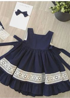 Kids dress pattern with pleats on front Order via line : @ Baby Girl Frocks, Kids Frocks, Frocks For Girls, Dresses Kids Girl, Kids Outfits, Baby Dresses, Dress Girl, Fall Outfits, Baby Dress Pattern Free