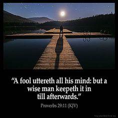 Imagem inspirada por Provérbios 29:11