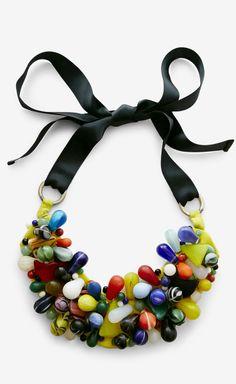 Vintage Muticolor Beaded Necklace