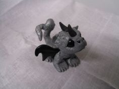 OOAK Handmade Polymer Clay Sculpture Mini Baby Dragon Fairy Art Doll by Shawna | eBay