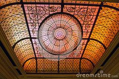 Stained Glass Ceiling by Mike Tankosich, via Dreamstime