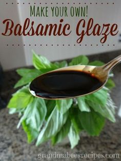 Balsamic Glaze // // When my garden tomatoes ripen, I love to make a simple Caprese Salad. The slices of red, ripe tomatoes, soft fresh Mozzarella slices and fresh basil leaves are so colorful, and delicious driz. Sauce Recipes, Cooking Recipes, Healthy Recipes, Salade Caprese, Caprese Salad Recipe, Garden Tomatoes, Marinade Sauce, Balsamic Glaze, Balsalmic Glaze Recipe
