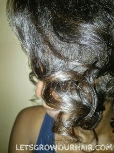 Lets Grow Our Hair!: Roller set and Pin curls: Take two